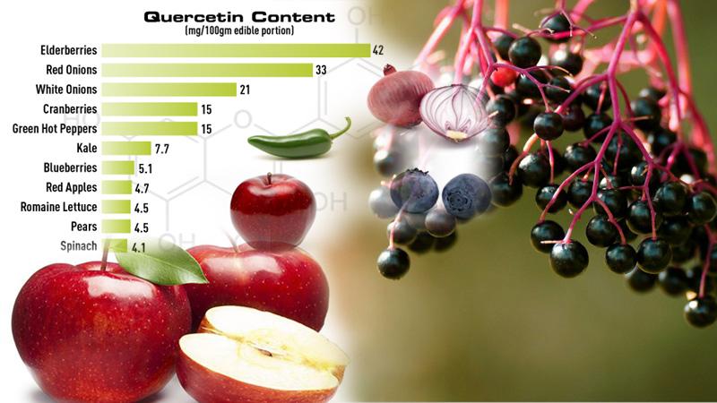 В кои храни се съдържа Quercetin-храни със кварцетин