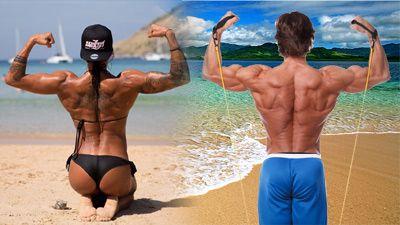 Упражнения с ластици за гръб