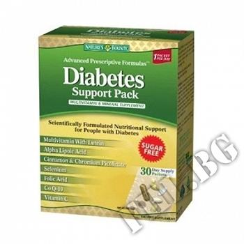 Действие на Nature's Bounty Diabetic Support Pack мнения.Най-ниска цена от Fhl.bg-хранителни добавки София