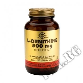 Съдържание » Цена » Прием » Solgar l-ornithine 500mg. / 50 caps.-Орнитин