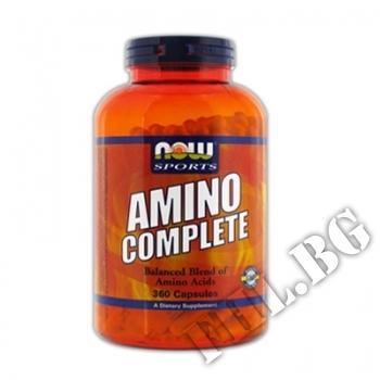Съдържание » Цена » Прием »  Amino Complete - 360 капсули