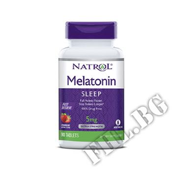 Действие на Melatonin Fast Dissolve 5mg бързо разтворим  мнения.Най-ниска цена от Fhl.bg-хранителни добавки София