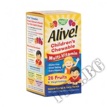 Съдържание » Цена » Прием » Alive Children's Multi-Vitamin Chewable