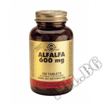 Съдържание » Цена » Прием » Alfalfa 600 mg Solgar