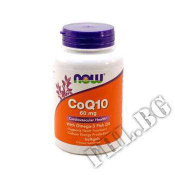 Действие на CoQ10 60 мг with Omega 3 Fish Oils  мнения.Най-ниска цена от Fhl.bg-хранителни добавки София