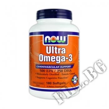 Действие на  Now Ultra Omega 3 180 softgels мнения.Най-ниска цена от Fhl.bg-хранителни добавки София
