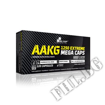 Съдържание » Цена » Прием » AAKG Mega Caps 1250 mg. 30 caps