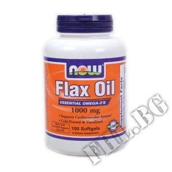 Съдържание » Цена » Прием » Flax Seed Oil 1000 мг