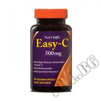 Действие на Easy-C 500mg+Citrus Bioflavonoids 60caps мнения.Най-ниска цена от Fhl.bg-хранителни добавки София