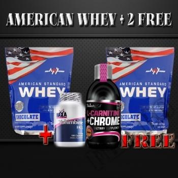 Действие на American Standard Whey 5lbs-2+2 free мнения.Най-ниска цена от Fhl.bg-хранителни добавки София