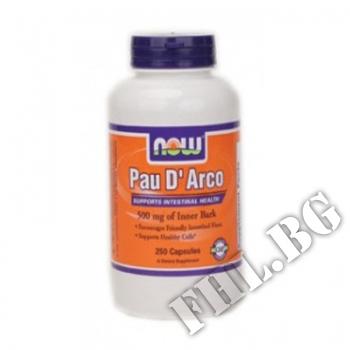 Съдържание » Цена » Прием »  Pau D Arco 500 мг - 250 капсули