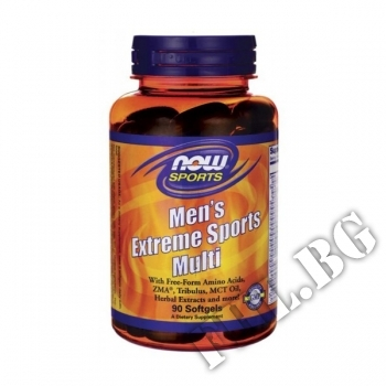 Съдържание » Цена » Прием » Mens Extreme Sports Multivitamin - 90 softgels
