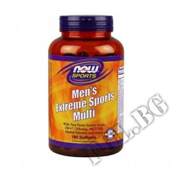 Съдържание » Цена » Прием » Mens Extreme Sports Multivitamin - 180 softgels