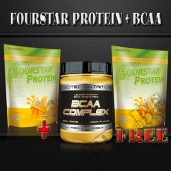 Действие на Fourstar protein 4000gr+ BCAA Complex 300g мнения.Най-ниска цена от Fhl.bg-хранителни добавки София