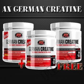 Съдържание » Цена » Прием » AX German creatine 2+1 free