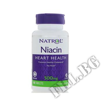 Действие на Niacin 500mg - Time Release  мнения.Най-ниска цена от Fhl.bg-хранителни добавки София
