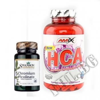 Съдържание » Цена » Прием » Garcinia Cambogia HCA-150 caps - Chromium-100 caps