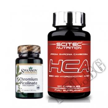 Съдържание » Цена » Прием » Garcinia Cambogia HCA-100 caps - Chromium-100 caps