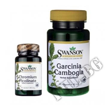 Съдържание » Цена » Прием » Garcinia Cambogia HCA-60 caps - Chromium-100 caps