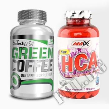 Съдържание » Цена » Прием » Green Coffee Bean 120 caps и Garcinia Cambogia 120 caps