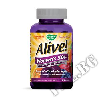Съдържание » Цена » Прием » Alive Women's 50+ Premium Gummy