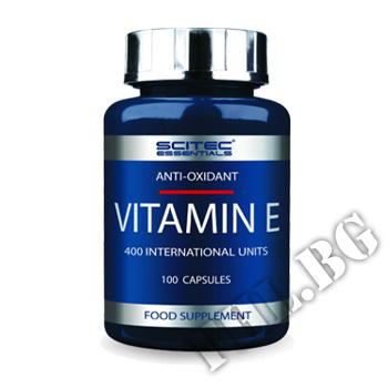 Съдържание » Цена » Прием »  Scitec Vitamin E 100 caps 400 eu