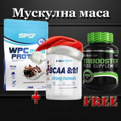 Суроватъчен Протеин 750 гр + Трибулус терестрис 120 табл с подарък BCAA 8:1:1