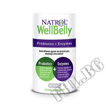 Действие на Well Belly Probiotics + Enzymes мнения.Най-ниска цена от Fhl.bg-хранителни добавки София