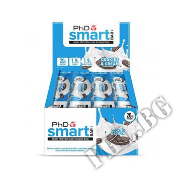 Съдържание » Цена » Прием » PhD Smart Protein Bar - 64g x 12 bar