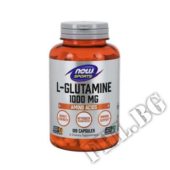 Съдържание » Цена » Прием »  L-Glutamine 1000 mg - 120 Capsules