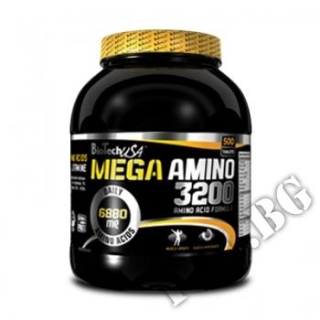 Съдържание » Цена » Прием »  Mega Amino 3200 500 tabs