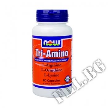Действие на Tri-Amino Arginine/Ornitine/Lysine 60 caps мнения.Най-ниска цена от Fhl.bg-хранителни добавки София