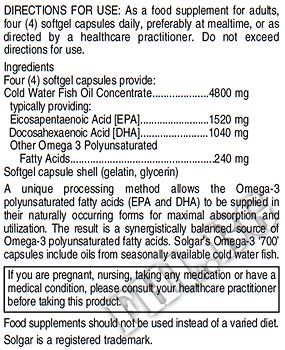 Съдържание » Дозировка » Прием » Как се пие » Omega 3 Double Strength 30soft » Solgar » Омега 3 Рибено масло