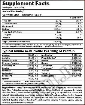 Съдържание » Дозировка » Прием » Как се пие » 100% Predator Protein 2000гр » AMIX » Суроватъчен протеин
