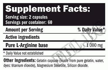 Съдържание » Дозировка » Прием » Как се пие » Arginine 120 caps » AMIX » Аргинин