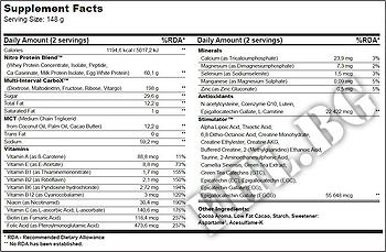 Съдържание » Дозировка » Прием » Как се пие » Nitro gain 2270g » BioTech USA » Гейнъри