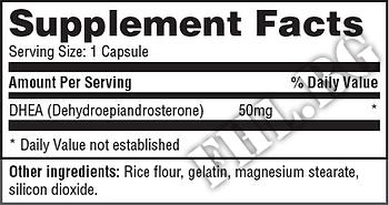 Съдържание » Дозировка » Прием » Как се пие » DHEA 50 mg 180 Caps » Haya labs » ДХЕА
