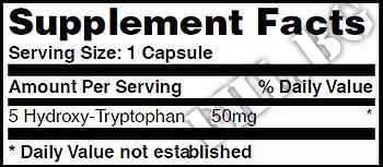 Съдържание » Дозировка » Прием » Как се пие » 5-HTP 50mg 90 Caps » Haya labs » Нервна Система