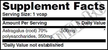 Съдържание » Дозировка » Прием » Как се пие » Astragalus 500mg. / 60 Vcaps. » Haya labs » Имунна Система