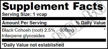 Съдържание » Дозировка » Прием » Как се пие » Black Cohosh 100mg 120 Vcaps » Haya labs » Предменструален синдром