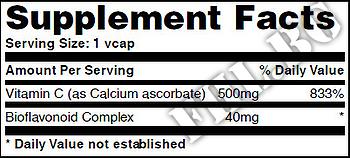 Съдържание » Дозировка » Прием » Как се пие » Buffered Vitamin C 500mg with Bioflavonoids 60 Vcaps » Haya labs » Витамин C