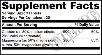 Съдържание » Дозировка » Прием » Как се пие » Cal-Mag Citrate 90 Vtabs » Haya labs » Калций