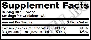 Съдържание » Дозировка » Прием » Как се пие » Calcium & Magnesium 250 Vcaps » Haya labs » Калций