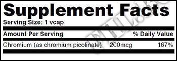 Съдържание » Дозировка » Прием » Как се пие » Chromium Picolinate 200mcg 100 Vcaps » Haya labs » Хром Пиколинат