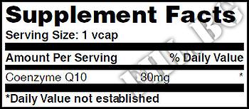 Съдържание » Дозировка » Прием » Как се пие » Co-Q10 30mg 120 Vcaps » Haya labs » Коензим Q10