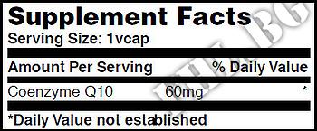 Съдържание » Дозировка » Прием » Как се пие » Co-Q10 60mg 120 Vcaps » Haya labs » Коензим Q10