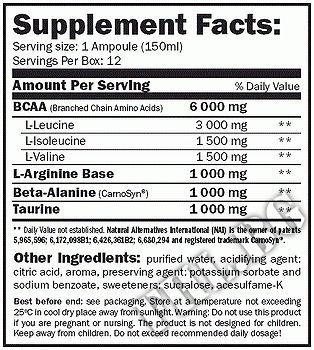 Съдържание » Дозировка » Прием » Как се пие »  BCAA MegaFuel 6000 » AMIX » Течни аминокиселини