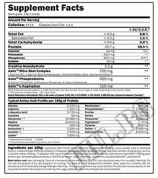 Съдържание » Дозировка » Прием » Как се пие »  Monster Beef Protein  2200gr » AMIX » Телешки протеин