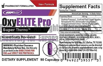 Съдържание » Дозировка » Прием » Как се пие » OxyELITE Pro  » USP Labs » Термогенни фетбърнъри