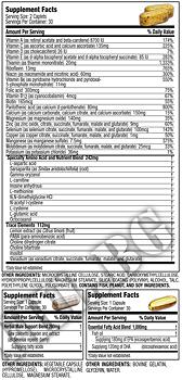 Съдържание » Дозировка » Прием » Как се пие » 100% Ultra-Premium Vitamin Pack » MuscleTech » Витамини и минерали